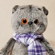 Басік в фіолетовому шарфі, 30 см