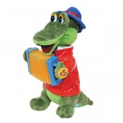 Мягкая игрушка Крокодил Гена с аккордионом, Мульти-Пульти озвученный
