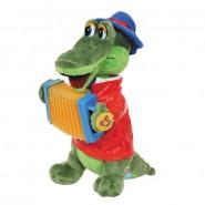 Мягкая игрушка Крокодил Гена с аккордеоном, Мульти-Пульти озвученный