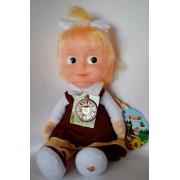 Мягкая игрушка Маша-школьница, Мульти-Пульти озвучена