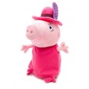 Мягкая игрушка мама Свинка в шляпе, 30 см