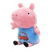 Мягкая игрушка Джордж в одежде с машинкой, 20 см