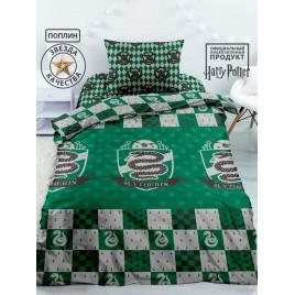 Комплект постельного белья 1,5 спальный Гарри Поттер Слизерин