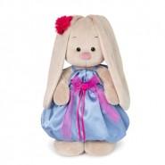 Зайка Ми в синем платье с розовым бантиком