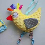 Развивающая игрушка для малышей Птичка Minky