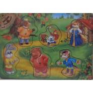 Рамка-вкладыш Сказка Заяц и лиса