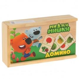Домино деревянное Ми-ми-мишки