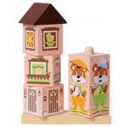 Кубики на палочке Мишка