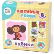 Кубики для малюків Улюблені герої, 4 шт