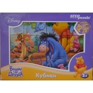 Кубики Винни и его друзья Disney, 12 шт