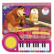Книга-пианино Машино пианино 10 песен из мультфильма Маша и медведь