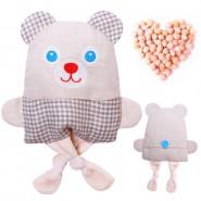 Крошка Мишка - льняная игрушка с вишневыми косточками. Доктор Мякиш