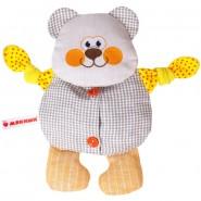 Мишутка- льняная игрушка с вишневыми косточками. Доктор Мякиш