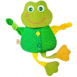 Лягушка- льняная игрушка с вишневыми косточками. Доктор Мякиш