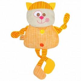 Кот- льняная игрушка с вишневыми косточками. Доктор Мякиш