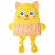 Крихітка Кошеня- лляна іграшка з вишневими кісточками Лікар М'якиш