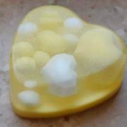 """Мыло ручной работы """"Сердце желтое"""""""